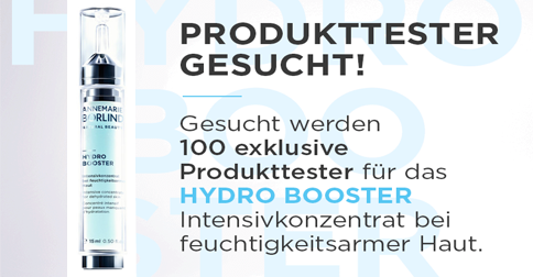100 Tester für BEAUTY SHOT Hydro Booster von ANNEMARIE BÖRLIND