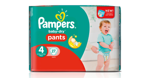 1.000 Tester für Pampers Baby-Dry Pants