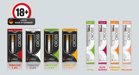 Tester für CROSS E-CIGARETTES & CROSS E-SHISHAS