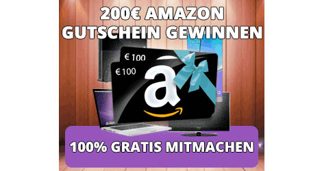 200 euro amazon gutschein gewinnspiel kostenlose proben. Black Bedroom Furniture Sets. Home Design Ideas