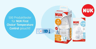 Produkttester NUK First Choice Temperature Control